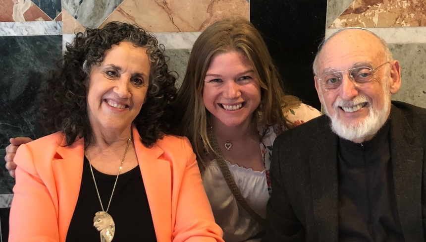 Caroline Omberg with Drs. John and Julie Gottman.